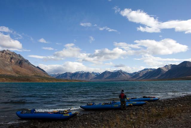 Twin Lakes. Parque nacional y reserva del lago Clark. Alaska.