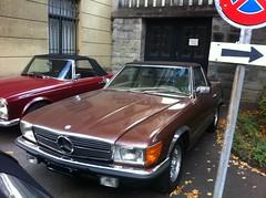 mercedes-benz 450sel 6.9(0.0), sports car(0.0), automobile(1.0), automotive exterior(1.0), vehicle(1.0), performance car(1.0), mercedes-benz r107 and c107(1.0), mercedes-benz(1.0), bumper(1.0), antique car(1.0), classic car(1.0), land vehicle(1.0), luxury vehicle(1.0), coupã©(1.0), convertible(1.0),