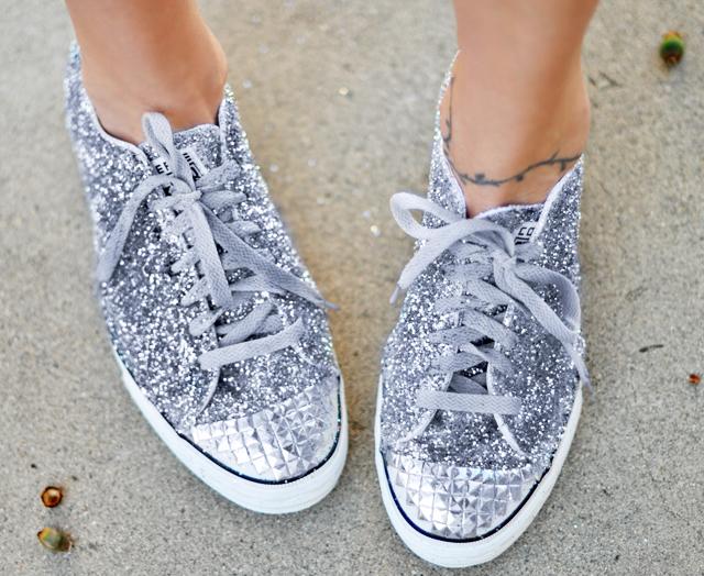 Glitter Converse Shoes Diy
