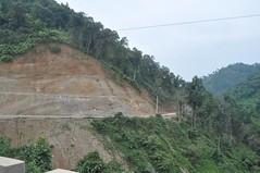 Carretera cap a la frontera amb Laos