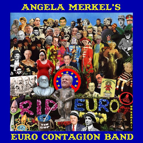 ANGELA MERKEL'S EURO CONTAGION BAND by Colonel Flick