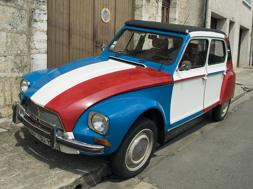 Citroën Dyane - French Tricolor