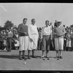 R-R: Fred Wright, Unidentified, Francis Ouimet and James Michael Curley make up a foursome
