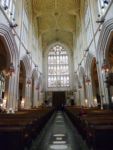 Inside Bath Abbey, England