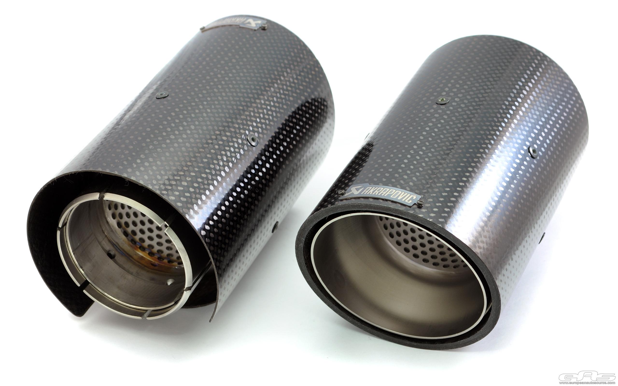 Carbon fiber akrapovic exhaust tips bmw performance
