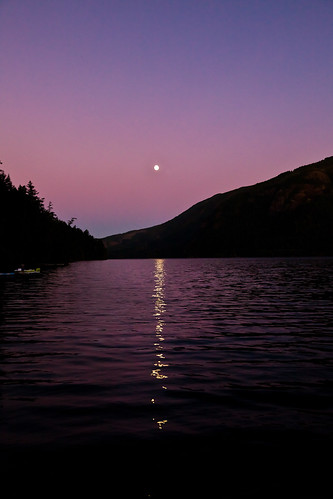 Full moon in September - Cameron Lake, Vancouver Island