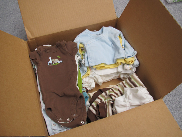 Packing Away Newborn Clothes