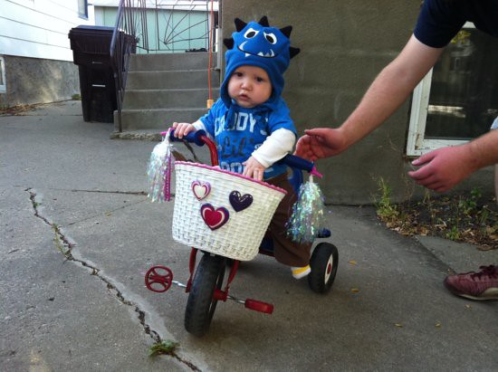 Preston rides a bike