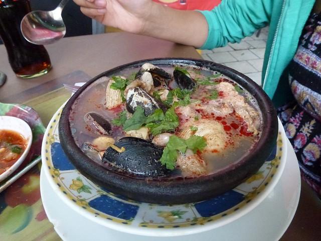I had paila marina, a seafood soup