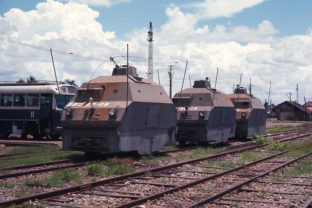 Saigon 1969 - các toa bọc thép trên sân ga Sài Gòn