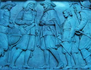 Image of Henry Hudson Monument. sculpture newyork publicart basrelief henryhudson henryhudsonmonument henryhudsonmemorialpark karlhgruppe
