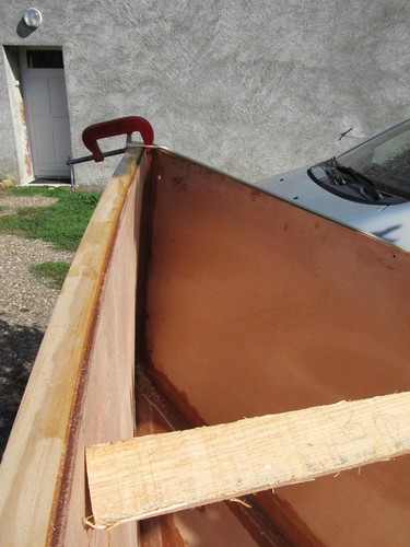 Fitting gunwales and inwales to Storer Boat Plans Quick Canoes
