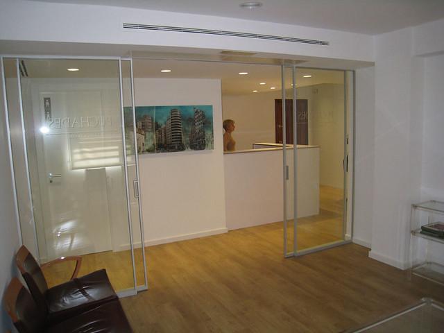 Mamparas de oficina vidreglass - Mampara de vidrio ...