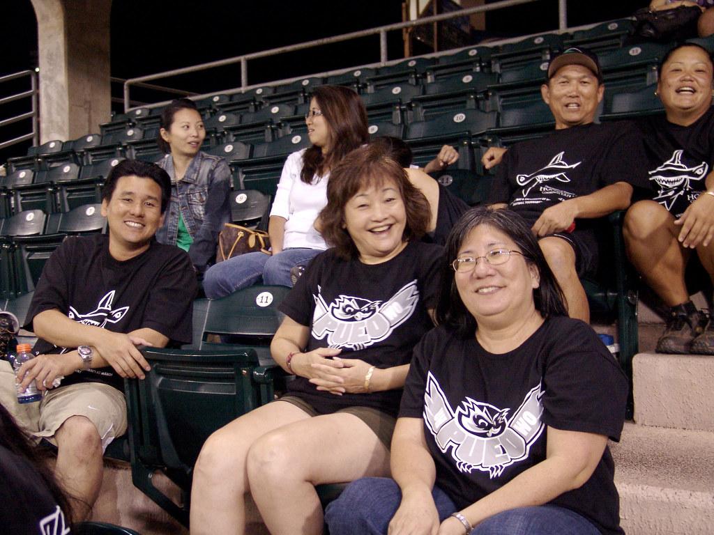 <p>Some of the UH West O'ahu fans at the UH AUW Softball Tourment at Les Murakami Stadium on Sept. 30, 2011</p>