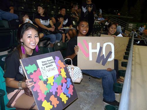 <p>UH West O'ahu fans at at UH AUW Softall Tournament 2011 at Les Murakami Stadium.</p>