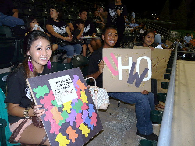 <p>UH West O'ahu fans at at UH AUW Softall Tournament 2011 at Les Murakami Stadium.</p>