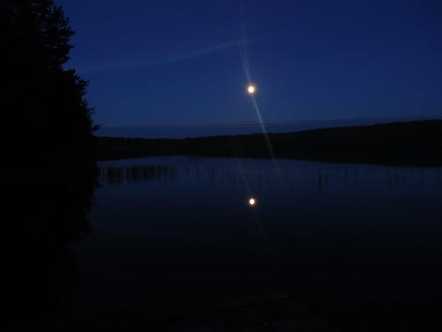 moon lake water landscape evening view maisema vesi kuu ilta järvi