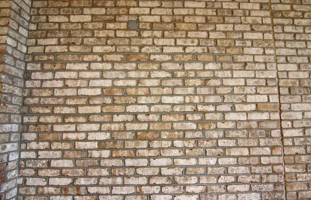 Faux Brick Wall Kitchen Island