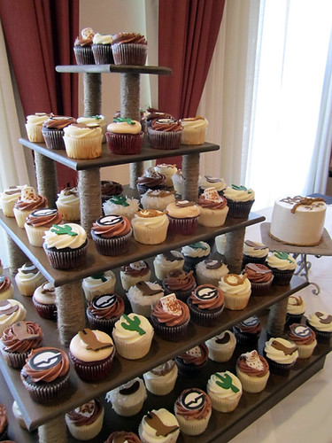 Western Wedding Cupcake Tower