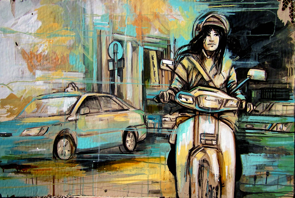 Alice Pasquini - 'Riding thru'
