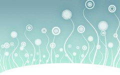 Free Light Blue Swirly Flowers Wallpaper from BackgroundsEtc