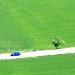 Espagne - Penafiel l'homme a la voiture bleu by jmboyer