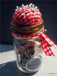 DIY Mason Jar Sewing Kit Gift