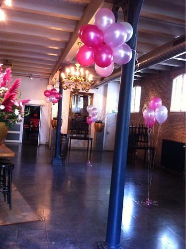 Tafeldecoratie 5ballonnen Hoppe Schiedam