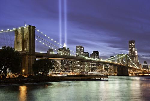 9/11 Memorial Lights NYC