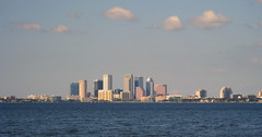 Tampa - Ballast Point Park - Downtown Tampa Skyline Across Hillsborough Bay (4)