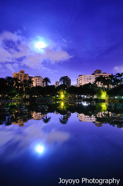 月光下的翠湖