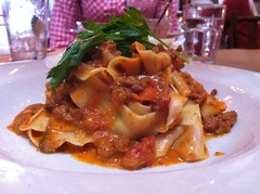 vegetarian food, pappardelle, pasta, meat, food, dish, cuisine,