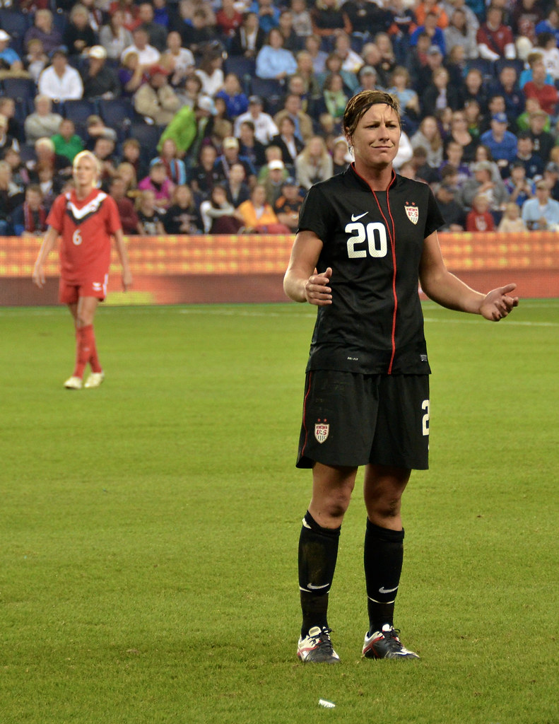 abby wambach in uniform making a face of confusion