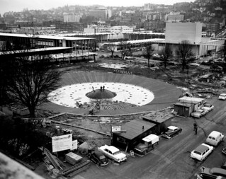 International Fountain under construction, 1962