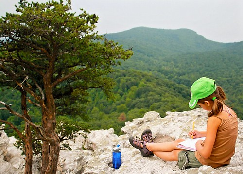 Student at Hanging Rock State Park, NC.