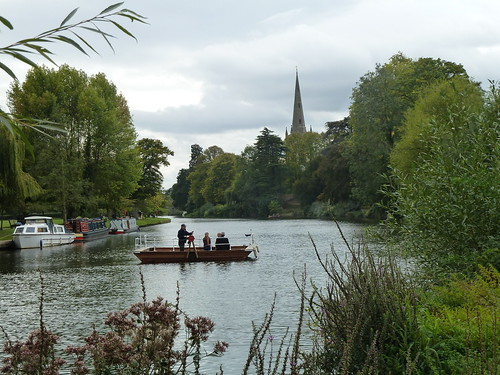 River scene at Stratford-upon-Avon, England