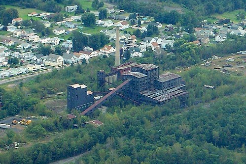 pictures railroad blue houses history abandoned industry photography photo mine industrial photos pennsylvania ashley picture rr aerial structure mining pa smokestack photographs photograph coal northeast breaker huber colliery anthracite wyomingvalley bluecoal