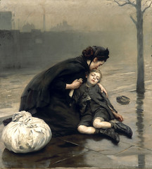 Homeless, 1890, by Thomas Kennington