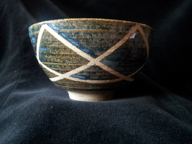 blue tea bowl