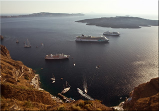 Cruise Ships in the Caldera