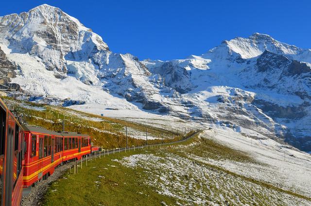 Subida al Jungfrau en tren