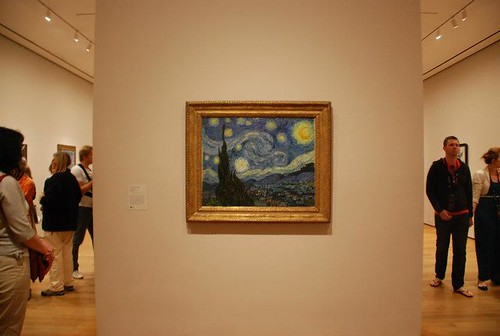 """Starry night"" by Van Gogh at the Moma Museum"