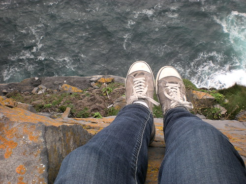 Converse on the cliff