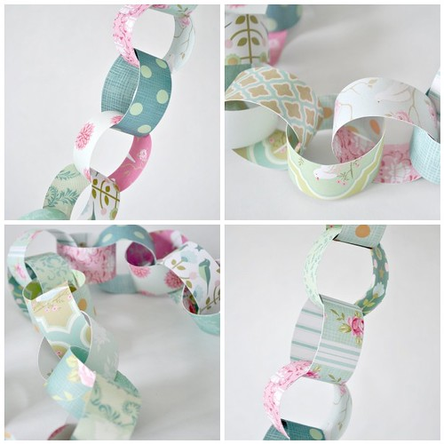 Pretty patterned paper chain