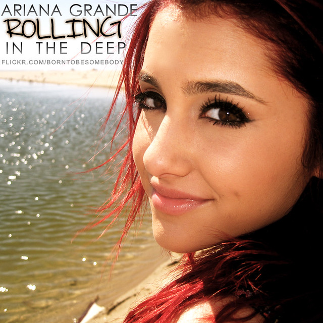 Ariana Grande Rolling In The Deep CD Cover