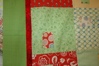 Detail of happy quilt