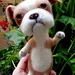 English Bulldog , needle felted
