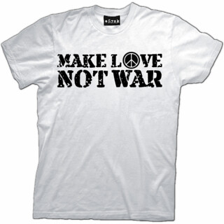 shirt MAKE LOVE NOT WAR PEACE Mens cool T-Shirt