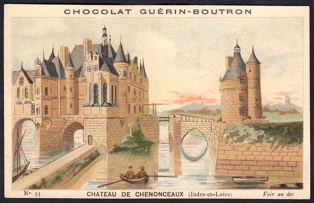 French Tradecard - Chateau de Chenonceaux