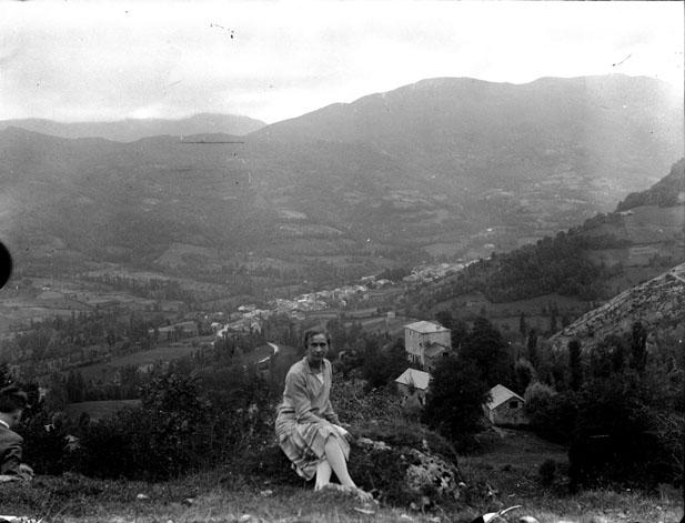 Vue générale de la vallée de Saurat, Ariège